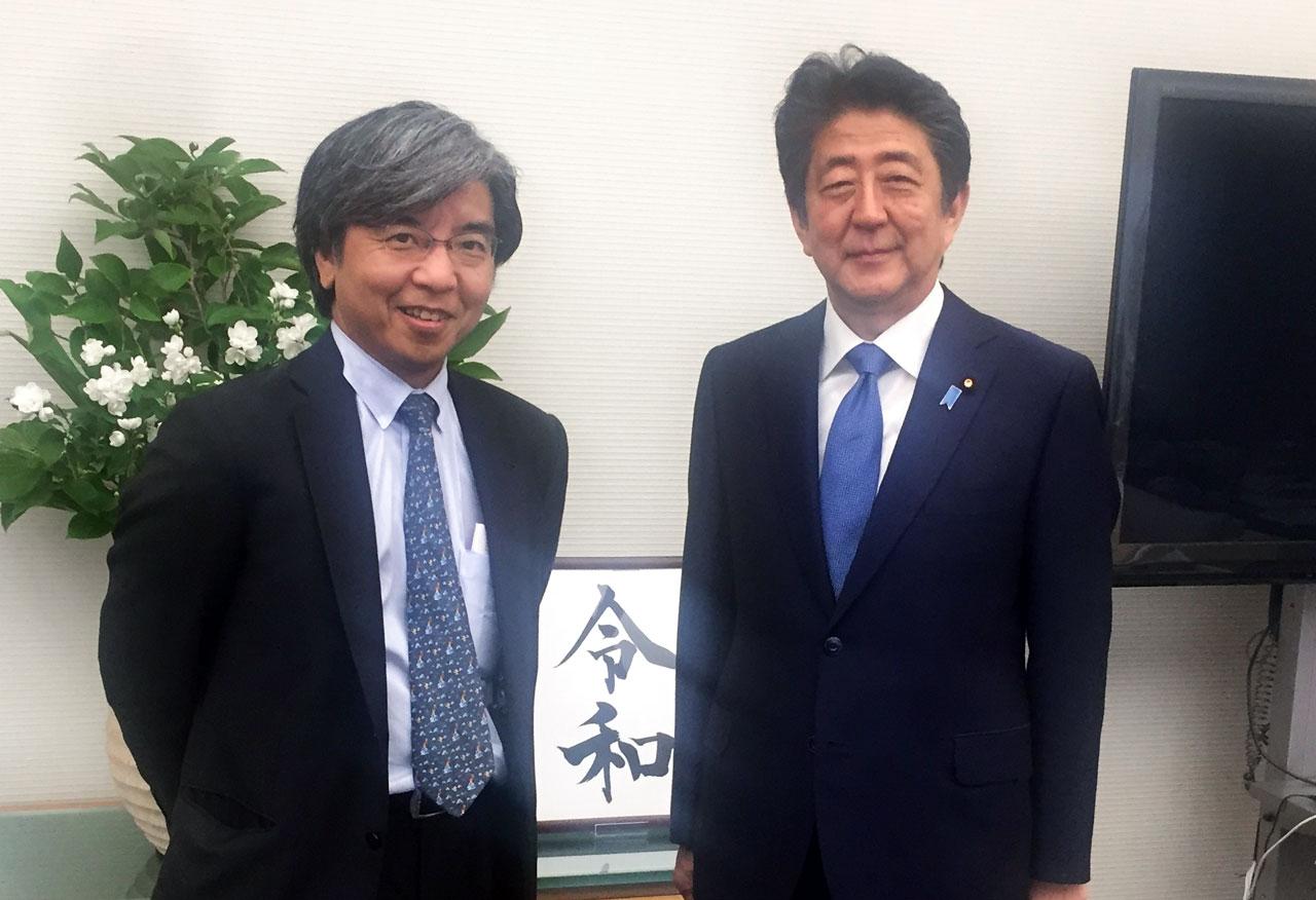大木教授と安倍首相